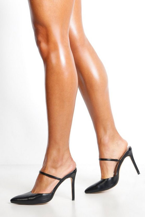 Pointed Mule Court Shoes