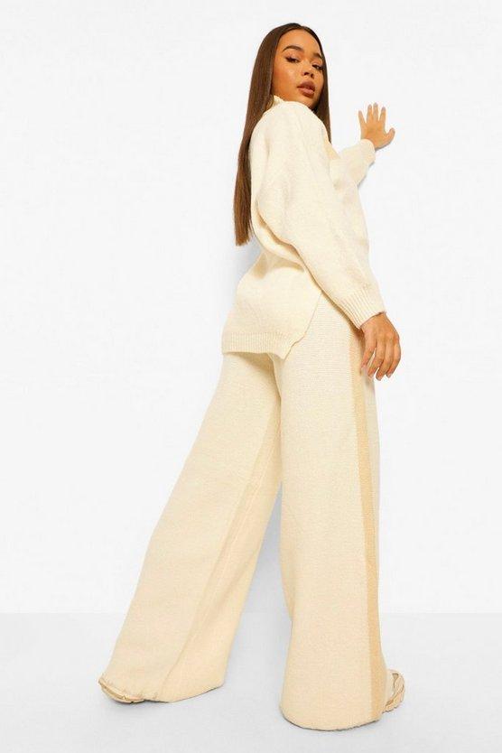 Premium Heavy Knitted Stripe Set