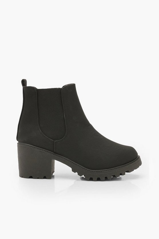 Chunky Cleated Chelsea Boots