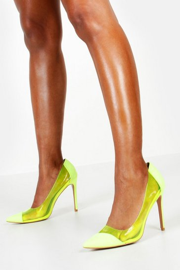 Womens Lime Neon Clear Courts