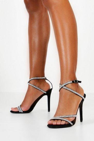 caedff377f293 Embellished Multi Strap Heel Sandals