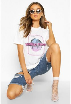 T-shirt ufficiale World Tour, White, Femmina
