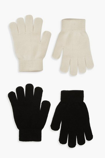 Womens Cream 2 Pack Magic Gloves