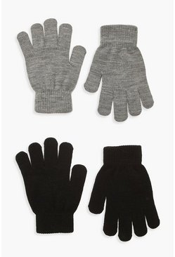 Lot de 2 gants Magic, Gris, Femme