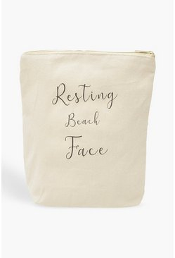 "Neceser Boohoo ""Resting Beach Face"", Blanco, Mujer"