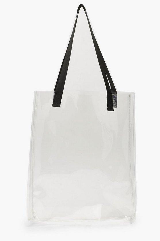 Clear Shopper Bag by Boohoo