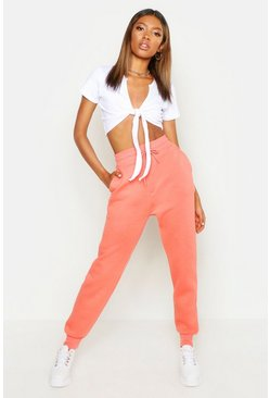 Womens Coral Basic Sweat Jogger