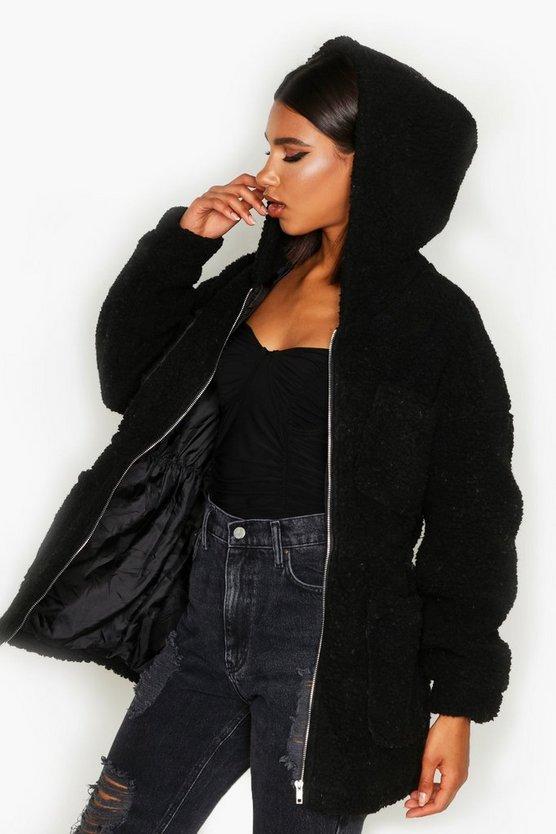 Teddy Faux Fur Utility Jacket