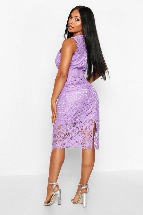 All Over Crochet Lace Midi Dress