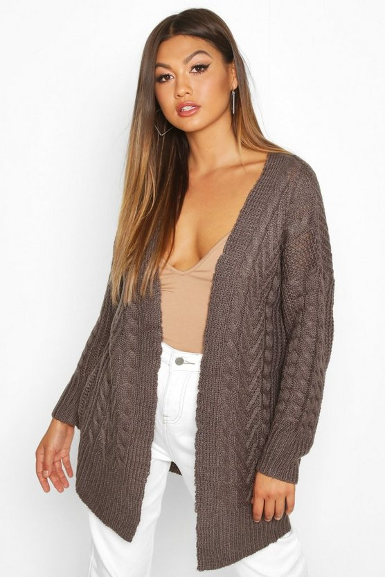 Cable Knit Midi Cardigan