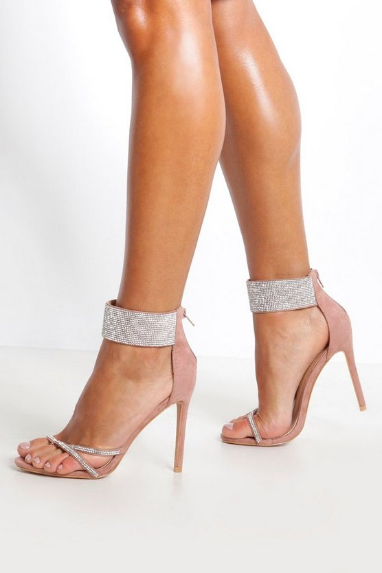 Blush Embellished Cuff 2 Part Heels