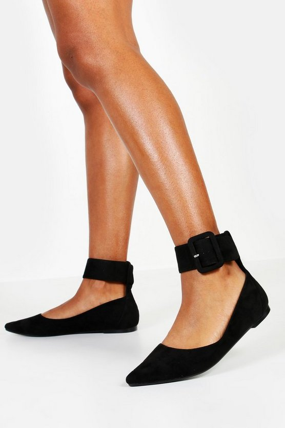 Chunky Buckle Pointed Ballets
