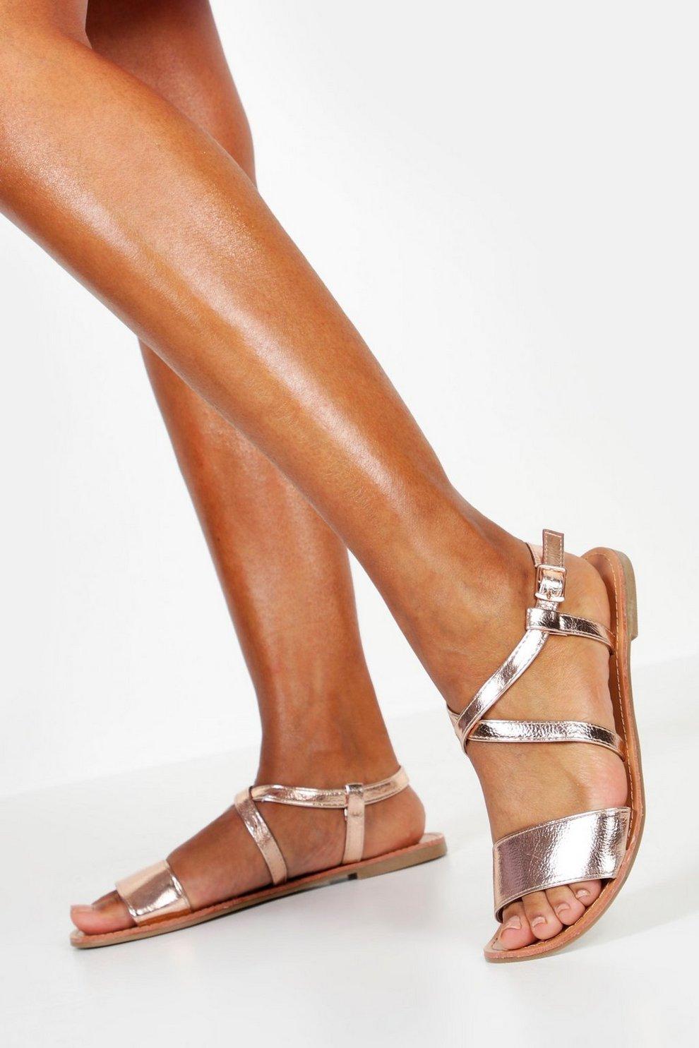 cfb442e41d Wide Fit Flat Sandals