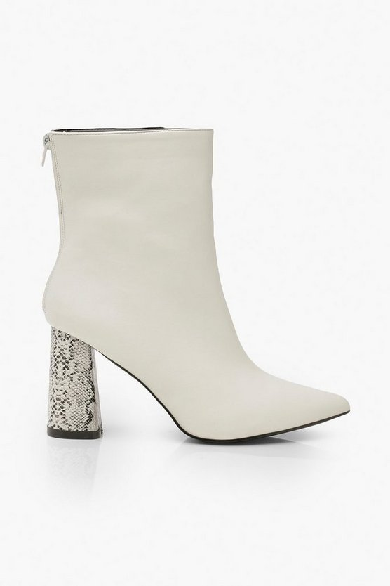 Snake Heel Pointed Shoe Boots