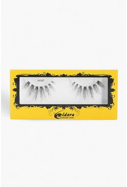 Womens Black Eldora Human Hair False Lashes H167