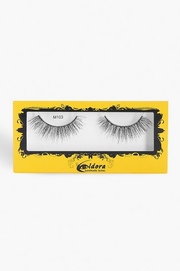 Womens Black Eldora Multi Layered False Lashes M103
