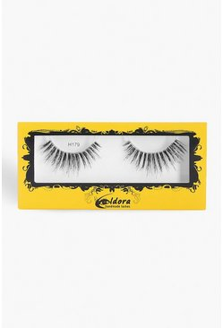 Womens Black Eldora Human Hair False Lashes H179