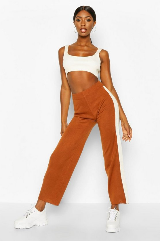 Side Stripe Knitted Trousers