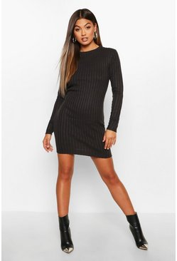 Dam Charcoal Rib Knit Mini Dress