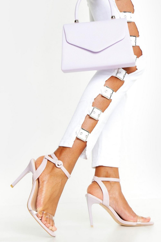4e038847823 Clear Strap Stiletto Heel 2 Parts | Boohoo