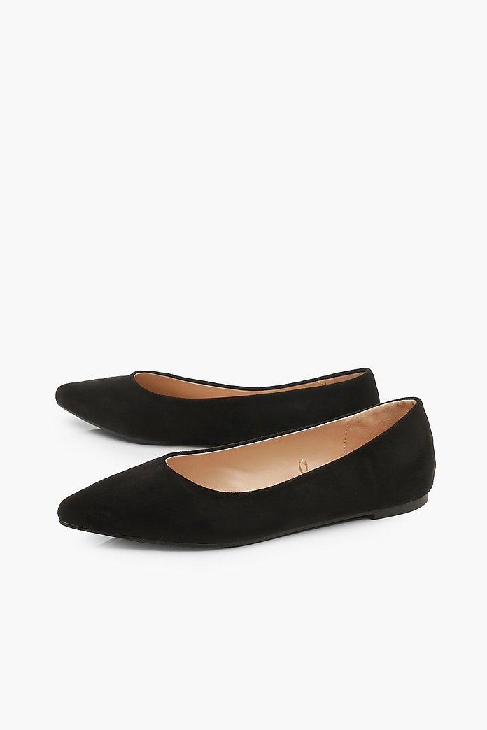 release date: wholesale online 50% off Pointed Toe Ballet Flats | boohoo