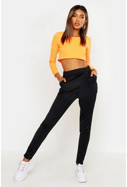 Womens Black Ponte Pocket Detail Slim Fit Treggings