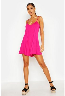 Womens Pink Jersey Swing Playsuit