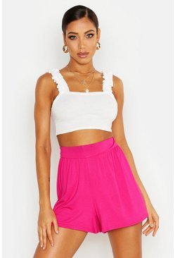 Pink Basic Jersey Flippy Shorts