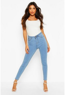 Womens Light blue Super Skinny Stretch Jeans