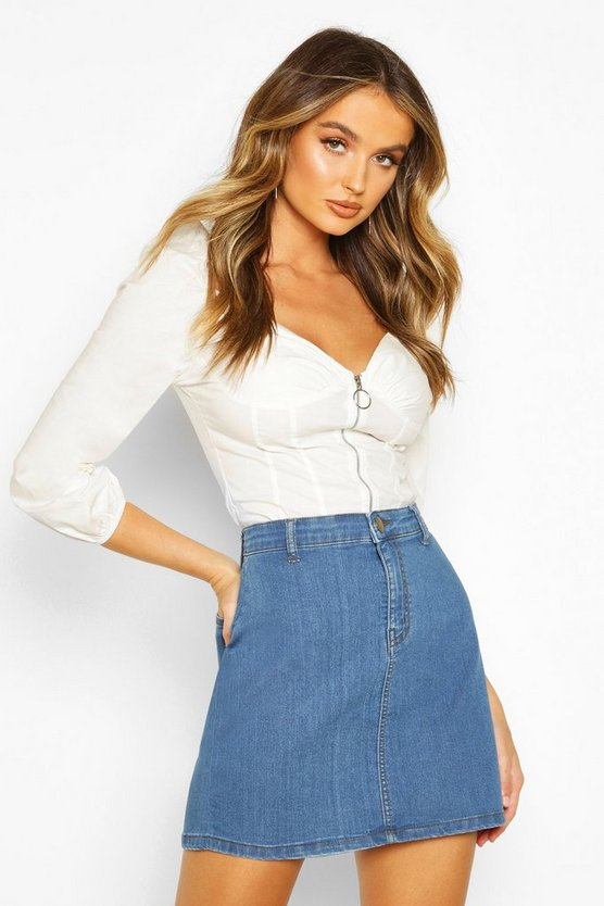 Mid blue Disco Fit Denim Skirt