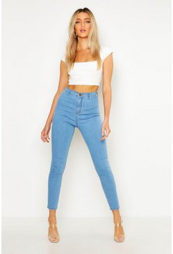Womens Light blue Skinny Disco Fit Jean