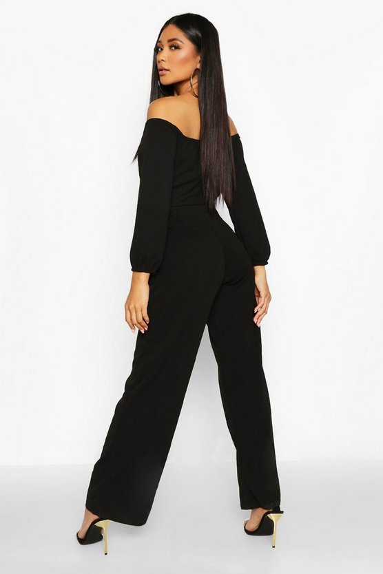 Off The Shoulder Wide Leg Jumpsuit