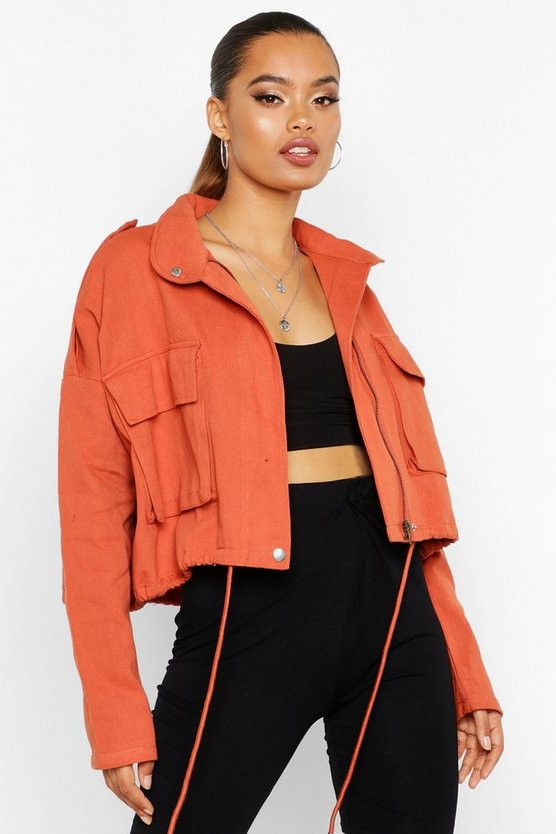 Double Pocket Utility Jacket by Boohoo