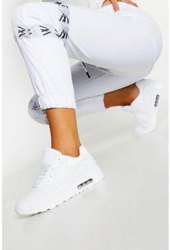 White Colour Pop Bubble Sole Chunky Sneakers