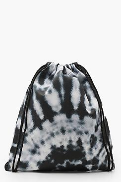 Mono Tie Dye Drawstring Backpack