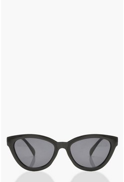 Black Chunky Frame Oversized Sunglasses & Pouch