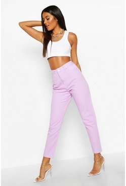 Womens Lilac High Rise Mom Jean