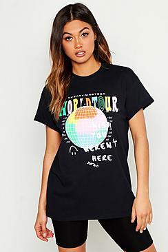 World Tour Graphic Print T-Shirt