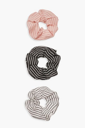 Multi Stripe Scrunchie 3 Pack