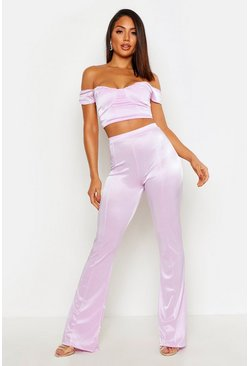 Lilac Tailored Straight Leg Trouser