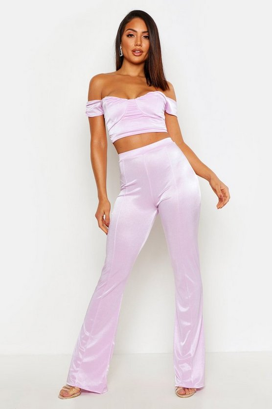 Womens Lilac Tailored Straight Leg Trouser