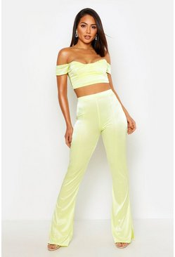 Lime Tailored Straight Leg Pants