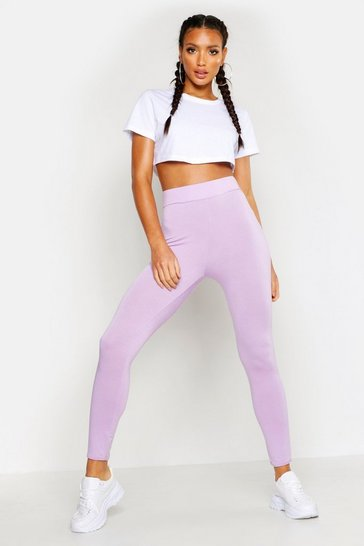 Womens Lilac Fit Basic Gym Leggings