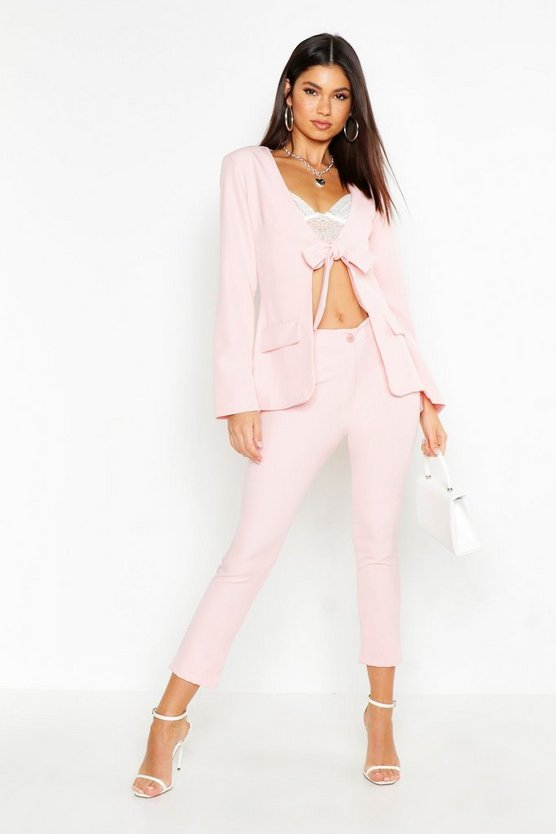 Womens Blush Tailored Trouser