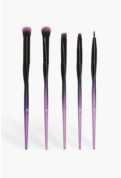 Womens Purple Brushworks  HD Precision Eye Brow Kit