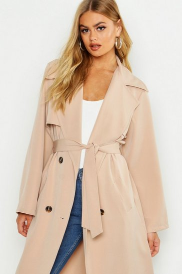 Womens Stone Trench Coat