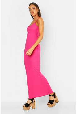 Womens Hot pink Strappy Maxi Dress