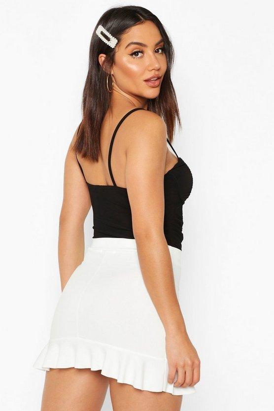 Peplum Frill Hem Mini Skirt