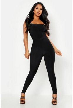 Womens Black Double Up V Front Legging