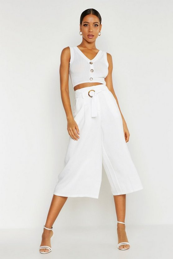 Dam Ivory O-Ring Tailored Culottes